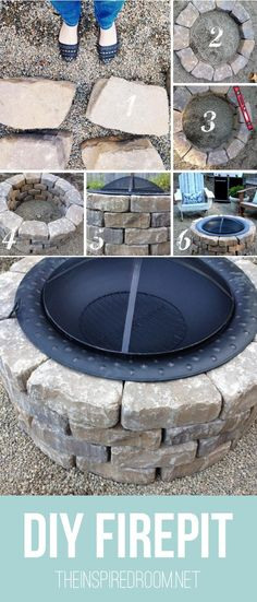 Easy DIY Firepit {Progress on the Fall Backyard Makeover Project!} - The Inspired Room Easy DIY Firepit {Progress on the Fall Backyard Makeover Project!} - The Inspired Room Backyard Projects, Outdoor Projects, Home Projects, Backyard Ideas, Firepit Ideas, Backyard Patio, Patio Ideas, Backyard Seating, Outdoor Crafts