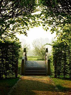Garden bridge with steps  Architect: Jacques Wirtz, Photographer: Jean-Pierre Gabriel, AD Feb 2012