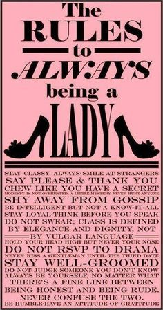 Rules of Being a Lady