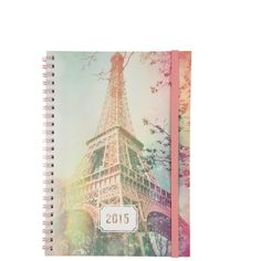 2015 a5 spinout diary (180 MXN) ❤ liked on Polyvore featuring home, home decor and stationery