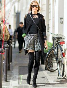 Estilo Olivia Palermo con botas mosqueteras