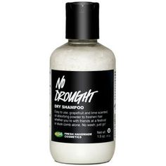 No time to wash? Want to give your hair a break from too much shampooing? No problem! Our dry shampoo absorbs excess oils and gives volume to hair, so it looks and smells fresh without every having to step into the shower. Massage a little No Drought into Lush Shampoo, Clarifying Shampoo, Dry Shampoo, Lush Cosmetics, Handmade Cosmetics, Shampooing Sec, Getting Rid Of Dandruff, Hair Powder, Lush Fresh