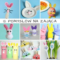 Bunny Crafts, Easter Crafts, Inspiration For Kids, Creative Kids, Art Activities, Diy Crafts For Kids, Techno, Projects To Try, Christmas Ornaments
