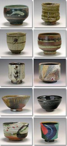 抹茶茶碗 Japanese tea bowls:
