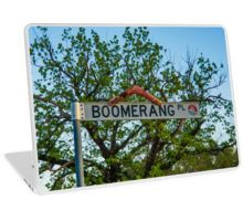 Boomerang Place Sign in Heathcote, Victoria Laptop Skin