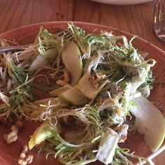 This pear salad at Ca'Momi new restaurant on First Street is insane yummy! My friend Sandy Schulze split it yesterday. It is huge!