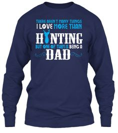Love Hunting And Being A Dad Limited! Navy T-Shirt Front