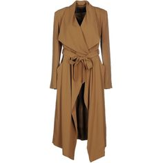 Plein Sud Par Fayҫal Amor Full-length Jacket ($235) ❤ liked on Polyvore featuring outerwear, jackets, coats, camel, plein sud, full length jacket, brown jacket, camel jacket and single breasted jacket