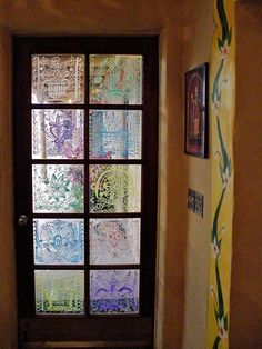 This is what i envision for our french doors on our shed around love these painted window panes planetlyrics Choice Image