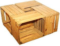 4 Sturdy Fruit Crate-Produce wine boxes from the Old World Natural Wood – Prima Furniture