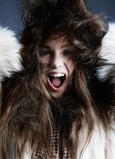 Photographed in a fur coat and Drome shirt, Maddie Ziegler stars in Hunger Magazine March 2016 issue