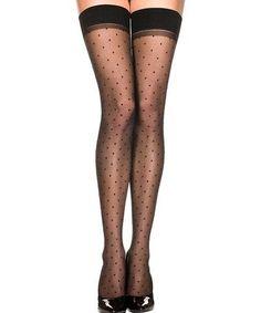 Look what I found on #zulily! Beige & Black Polka Dot Thigh-High Stockings #zulilyfinds - secxy lingerie, google lingerie, buy intimates online *sponsored https://www.pinterest.com/lingerie_yes/ https://www.pinterest.com/explore/lingerie/ https://www.pinterest.com/lingerie_yes/lingerie-pas-cher/ http://www.agentprovocateur.com/us_en/lingerie