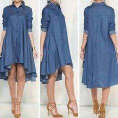 Denim High-low Dress