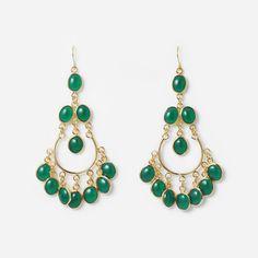 Isharya Green Agate Gypsy Earring