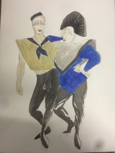 80's. Bohemian couple.  Anette Werenskiold Bohemian, Couples, Drawings, Fictional Characters, Art, Art Background, Boho, Kunst, Gcse Art