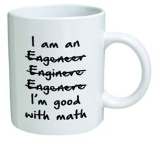 Amazon.com: Funny Wrong I'm An Engineer Good with Math BLACK13F37 - 11 Oz Coffee Mug - Funny Inspirational and Sarcasm: Kitchen & Dining