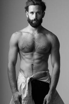Levi Jackson beard, sexy body hair as a man should have!