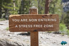 You are now entering a stress free zone in the Smoky Mountains.