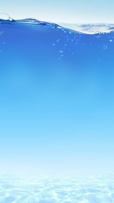 ↑↑TAP AND GET THE FREE APP! Nature Under Water Blue Unicolor Minimalistic HD iPhone 6 plus Wallpaper