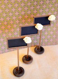 Rustic chalkboard  table numbers  SET of 12 by BellaBrideCreations, $52.00