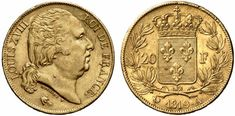 20 francs or de Louis XVIII, 19ème siècle Coin Art, Gold And Silver Coins, Napoleon, Postage Stamps, 20 Francs, Argus, Coups, Euro, Images