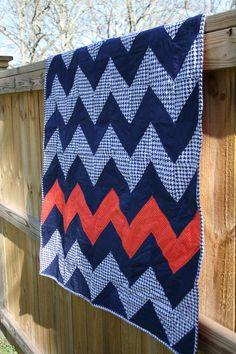 Chevron in Houndstooth