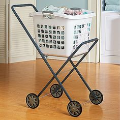 Improvements Laundry Trolley-this would make the chore of doing laundry so much easier on my back!  For anyone with mobility issues, this is a must!  #seen@HSN