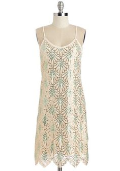 Simple geo 1920s slip dress - Come on, Let's Deco! Dress