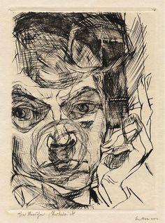 Max Beckmann: Self-Portrait (Der Raucher) drypoint Max Beckmann, Life Drawing, Drawing Sketches, Self Portrait Drawing, Deviantart Drawings, Drypoint Etching, Franz Marc, Expressionist Artists, You Draw