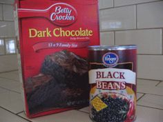 """HEALTHY EMERGENCY BLACK BEAN BROWNIES  Times when we HAVE TO have a brownie…not a question of IF it will happen, but WHEN.  Anyway, sweet Linda explained that these """"shockingly"""" good, chocolate fudge type brownies are made from one regular..."""