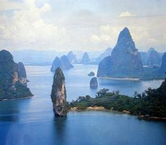 Limestone karsts in Phang Nga Bay, Thailand (near Phuket)