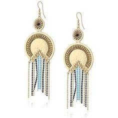 Danielle Nicole Moon Goddess Drop Earrings