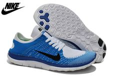 the latest d5390 90919 2015 Nike Free Flyknit Mens Running Shoes Newest On Sale Blue Gray
