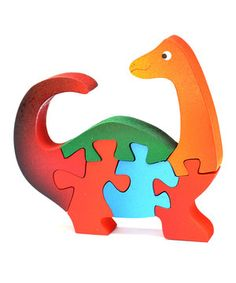 Brontosaurus Wood Puzzle by TOT Thinking of Them #zulily #zulilyfinds