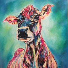 Cow Stretched Canvas Print