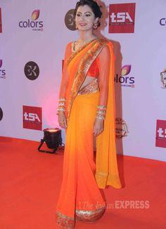 Shilpa Shetty, Kalki Koechlin, Karishma Tanna, Upen Patel attend TV Awards in style Beautiful Girl Indian, Beautiful Saree, Upen Patel, Kalki Koechlin, Blouse Desings, Sriti Jha, Tv Girls, Indian Fashion Trends, Indian Princess