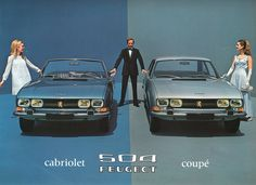 1969 Peugeot 504 Cabriolet & 504 Coupe