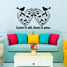 Wall Decal  Love Vinyl Sticker Love is All Love by VinylDecals2U