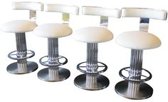 Set of 4 Chrome Deco Style at V