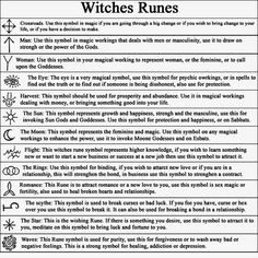 There are 13 Witches Runes altogether, you can use the symbols in magic work, or you can make yourself (or buy) a set of Witches Rune Stones for divination.