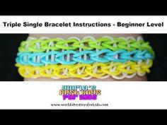 Rainbow Loom Rubber Band Refill - Triple Single Bracelet Instructions