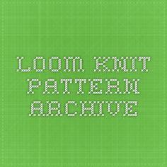 loom knit pattern archive