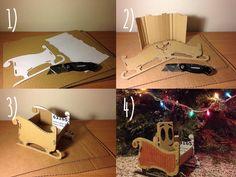 Cardboard Christmas Sleigh