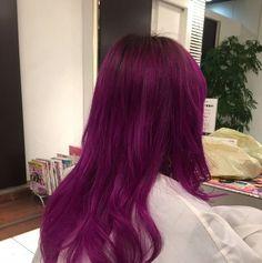 WEBSTA @ god.nishiguchi - 白まで抜いたので紫も綺麗に入りました。!#美容室#ブリーチ#エンシェールズ#カラーバター#ラベンター#カラー#ヘアカラー#GOD#高崎#茂木#イルミナカラー#グラデーション#ダブルカラー#パープル #マニパニ#
