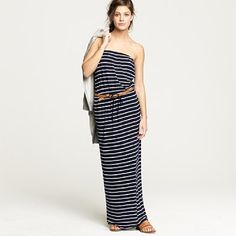 #maxidress @jcrew #dresses love this casual striped dress.. looks comfy and super cute