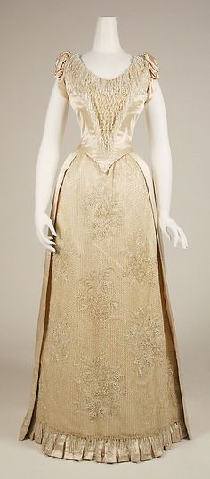 Evening Dress 1888-1889 The Metropolitan Museum of Art
