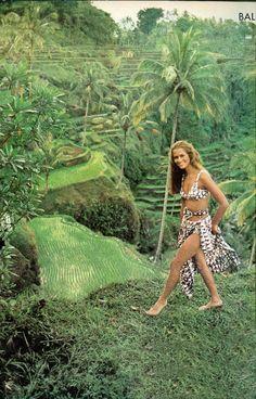 Lauren Hutton in Bali by Arnaud De Rosnay for Vogue December 1970