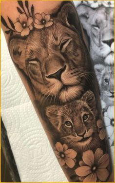 baby tattoos for moms 373658100336347133 - Source by Lioness And Cub Tattoo, Lion Cub Tattoo, Female Lion Tattoo, Lion Forearm Tattoos, Cubs Tattoo, Girl Arm Tattoos, Sleeve Tattoos, Tattoos For Women, Female Forearm Tattoo