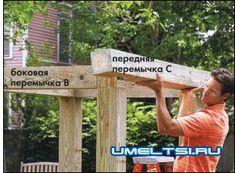Строим шаг за шагом Pergola, Outdoor Structures, Rooftops, Outdoor Pergola