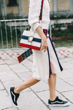 Street Style_ SS17 sees the inversion of the nautical palette with ecru forming the base || Saved by Gabby Fincham ||